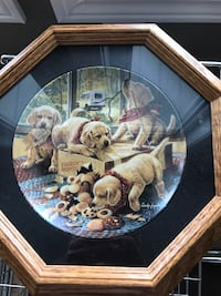Framed collector plate