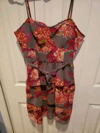women's red and black floral sleeveless dress Queens, 11354