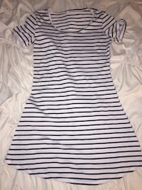 white and black stripe scoop-neck dress Warrenville, 29851