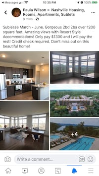 APT For rent 2BR 2BA Nashville