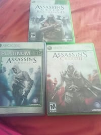 three Assassin's creed Xbox 360 game cases Watkins Glen, 14891