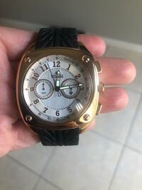 Visage rose gold and rubber watch  923 mi