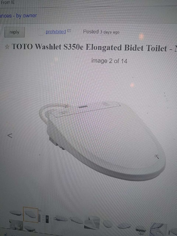 Used TOTO Washlet S350e Elongated Bidet Toilet for sale in Dallas ...