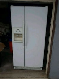 white side-by-side refrigerator with dispenser Covina, 91724