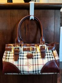 white and brown leather tote bag St. Albert, T8N 2R1