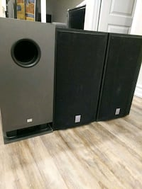 Selling onkyo and cerwin-vega subwoofer & speakers Pickering, L1V 6W5