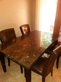 rectangular brown wooden table with six chairs dining set Springfield, 01151