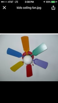 Green, purple, orange, red, blue, and yellow Kid's ceiling fan screenshot 541 mi