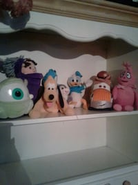 assorted color of plush toys