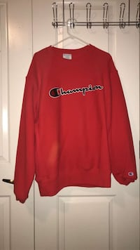 Red champion sweater Cambridge, 02139