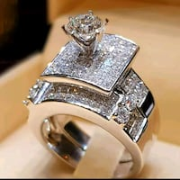 Brand new 925 Silver two-piece rings Del City