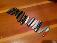 Pocket knife collection.  Calgary, T2M 3H1