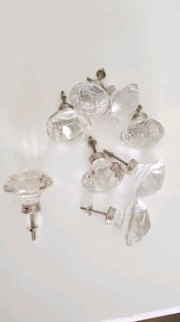 Clear Crystal Cabinet Knobs - NEW