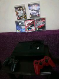 Ps 3 Super slim 500gb  9oyun 2 kol
