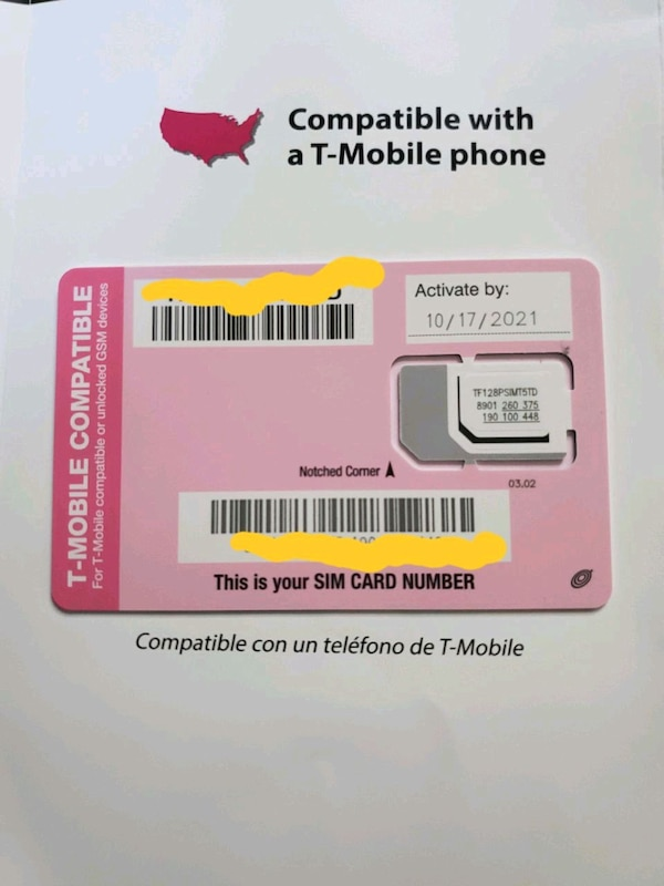 Brand New Tmobile to Straight Talk Sim Card