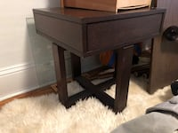 End table with storage and glass top