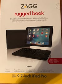 9.7 inch Zagg durable wireless keyboard and detachable case