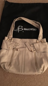 White makowsky leather bag