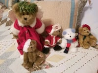 Five white and red bear plush toys Hagerstown, 21740