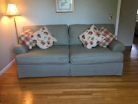 Soft Sage green and ivory plaid couch East Haven, 06512