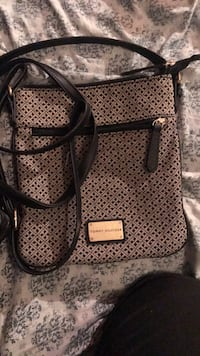 black and gray leather crossbody bag Fort Myers, 33907