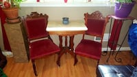 two red suede padded chairs Phenix City, 36869