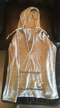 Gray pull-over hoodie