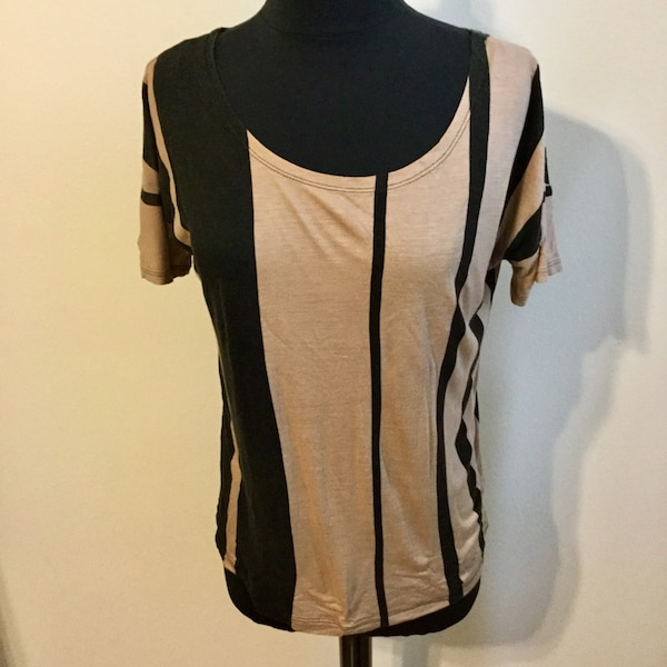Black and brown scoop-neck dress small
