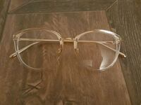 clear and gold framed eyeglasses Montréal, H4N