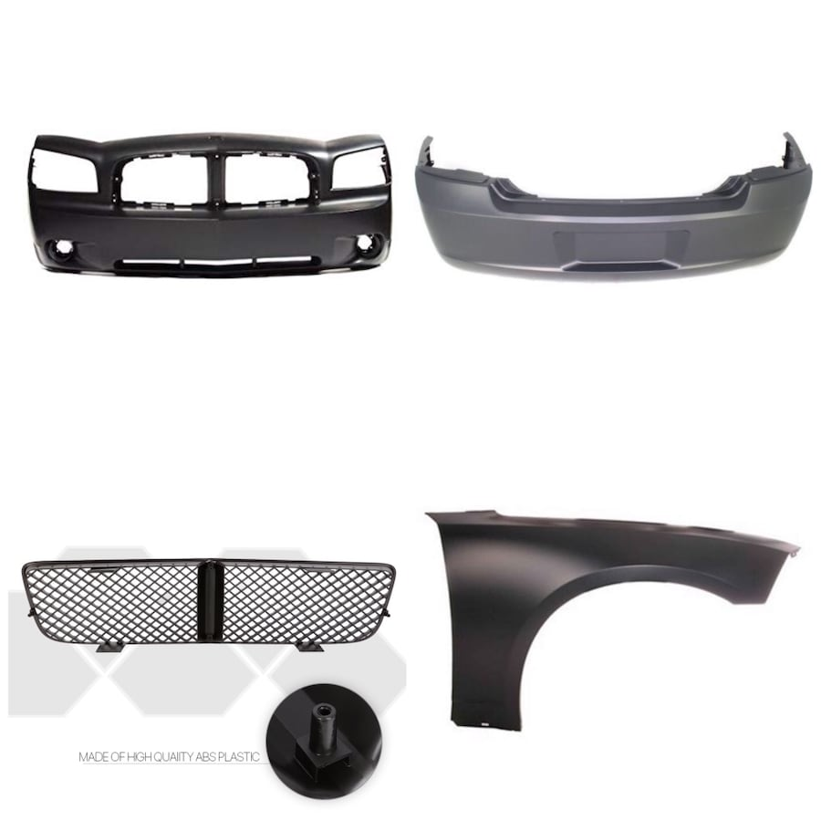 06-10 Dodge Charger bumpers. Grill and right side panel