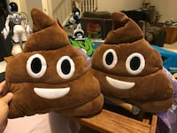 Poop emoji throw pillows (set) Chantilly, 20152