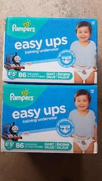2 Brand New Pampers Boys Pampers Easy ups size 4t-5t 86 count Mississauga