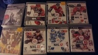 several PS3 game cases