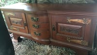 Brown wooden 3-drawer chest. Picture doesn't show what a beautiful piece of furniture it is.  Augusta, 30815