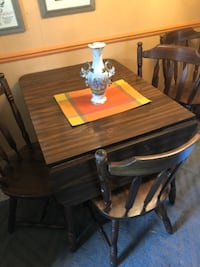 brown wooden dining table set HAGERSTOWN