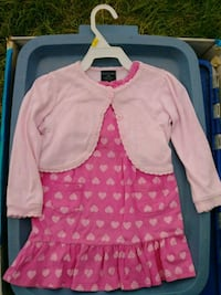baby's pink heart dress Donna, 78537