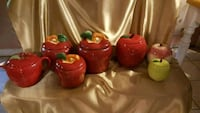 Seven apple canisters, two sets & one singleie Lebanon, 45036