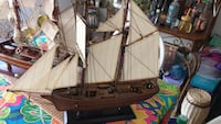 brown and white galleon ship scale model Galt, 95632
