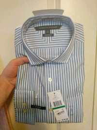 white and black stripe Polo by Ralph Lauren shirt Blue Ash