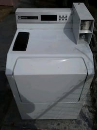 Maytag commercial washers and dryers with coint collectors and keys