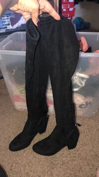 black suede knee high boots Melbourne, 32935