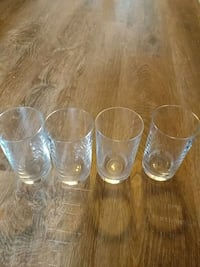 4 drinking glasses Sterling, 20165