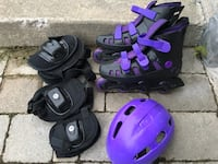 Roller blades with helmet and pads Richmond Hill, L4C 0G6
