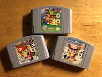 CLASSIC Nintendo 64 Video Games 3 Pack - Mario Party, Mario Party 2, and Super Mario 64 Lowell, 01852