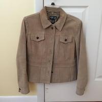 Womans Tan Suede Hip Length Jacket CLIFTONPARK