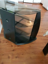 black and gray 3-layer TV stand 724 km