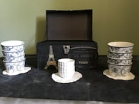 Paris Box with soup cups and small saucers  Boiling Springs, 29316