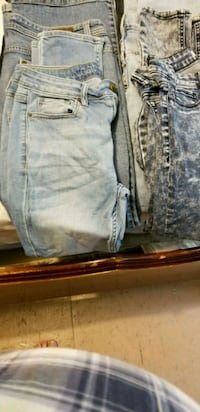 two gray and blue denim jeans O'Fallon, 63366