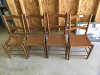 4 chairs with wicker seats...need some TLC but great fo projects negotiable Chesterfield, 23832