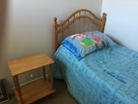 Twin bed, trundle, x2 mattresses and side table San Marcos, 92078